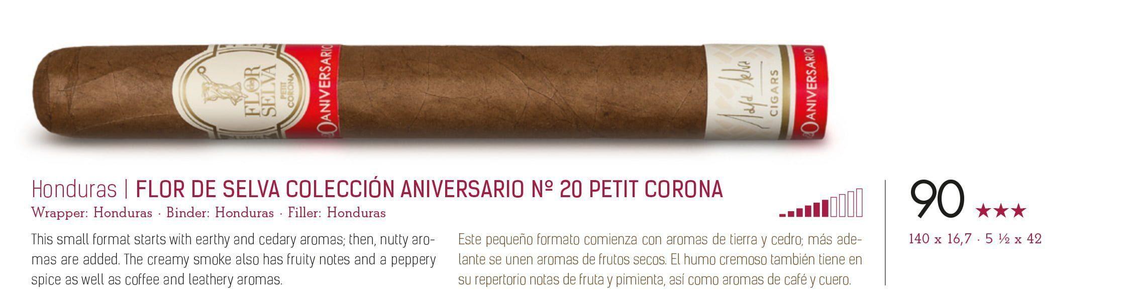 Flor de Selva Coleccion Aniversario No20 Petit-Corona